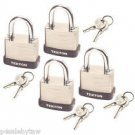 "New MIT/Tekton 4 Pc 1-1/2"" Keyed-Alike Laminated Steel Padlocks # 7752"