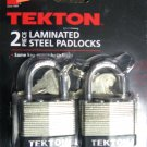 "New MIT/Tekton 1-1/2"" 2 Pc Keyed Alike Laminated Steel Padlocks # 7751"