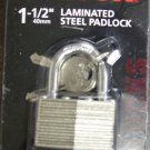 "New MIT/Tekton 1-1/2"" Laminated Steel Padlocks # 7750"