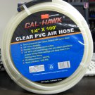 "New Cal-Hawk 1/4"" x 100' Clear PVC Air Hose  # CAHP2100C"