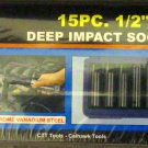 "New Cal-Hawk 15 Pc 1/2"" Dr MM Deep Impact Socket Set  # AISDCVB15M"