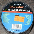 "New Cal-Hawk 50 Pc 3"" Metal Cut Off Wheels # CZCW3B"