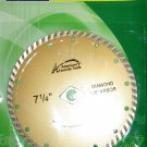 "New American Favorite Tools 7-1/4"" Continuous Turbo Diamond Blade w/ 7/8"" Knock Out  # 7-1/4DBTKO*"
