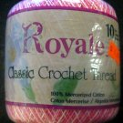 New Royale Classic Crochet Thread Size 10 Pinks & White