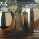 New Set of two Mikasa Solid Copper Moscow Mule Mugs 16 oz Smooth Barrell