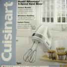 NEW Cuisinart HDM-100WSA 5 Speed Hand Mixer Power Advantage White BPA Free