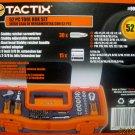 New Tactix 52 Piece Stubby Tool Box & Tools #901013
