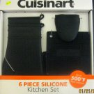New Cuisinart 6-pc Silicone Kitchen Set Black