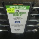 New Pittsburgh 5-Pc. Double-end Flare Nut Wrench Set #68866