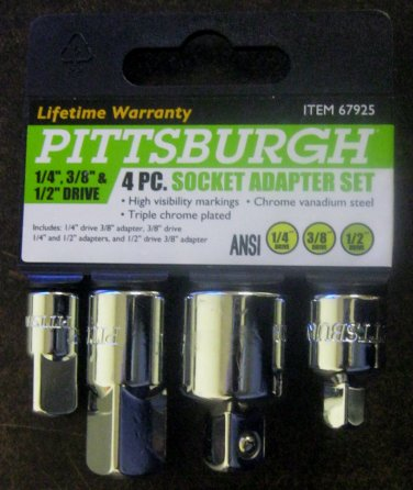 New Pittsburgh 4-pc. Socket adapter set #67925