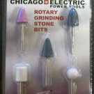 New Chicago Electric 5-Pc. Rotary Grinding Stone Bits #94991