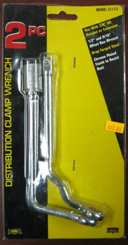 "KR Tools 2-Piece Distribution Clamp Wrench 1/2"" & 3/8"" Dr. #51113"