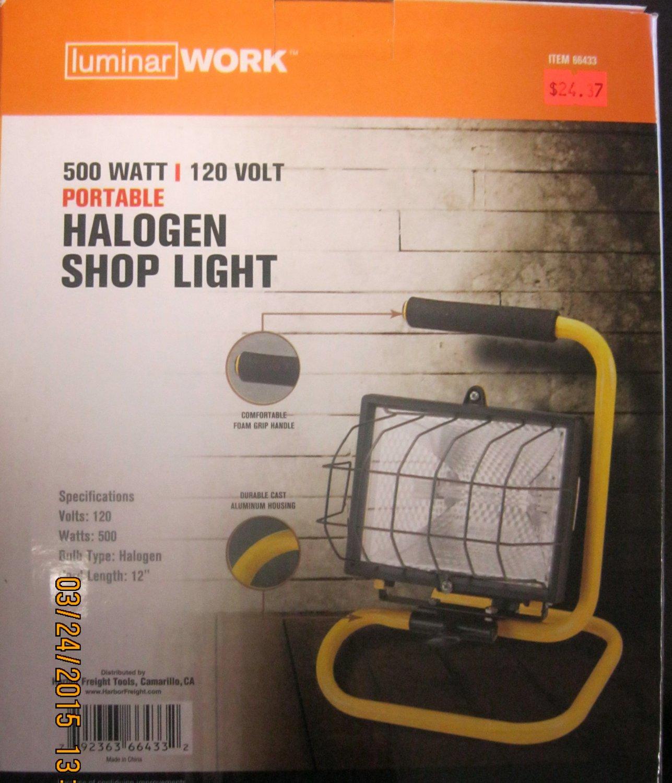 Halogen Lights For Shop: New Luminar Work 500 Watt 120 Volt Portable Halogen Shop