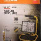 New Luminar Work 500 Watt 120 Volt Portable Halogen Shop Light #66433