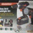 New Drillmaster 18V Cordless  Drill & Flashlight Kit #69652