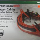 New Pittsburgh Automotive Jumper Cables with Inline Battery Tester #60278