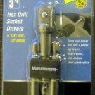 New Warrior 3-Pc. Hex Drill Socket Drivers #68513
