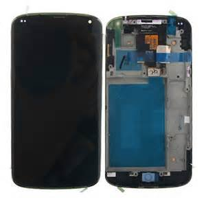 New LG Google Nexus 4 E960 LCD Touch Digitizer Screen Assembly Housing Frame OEM