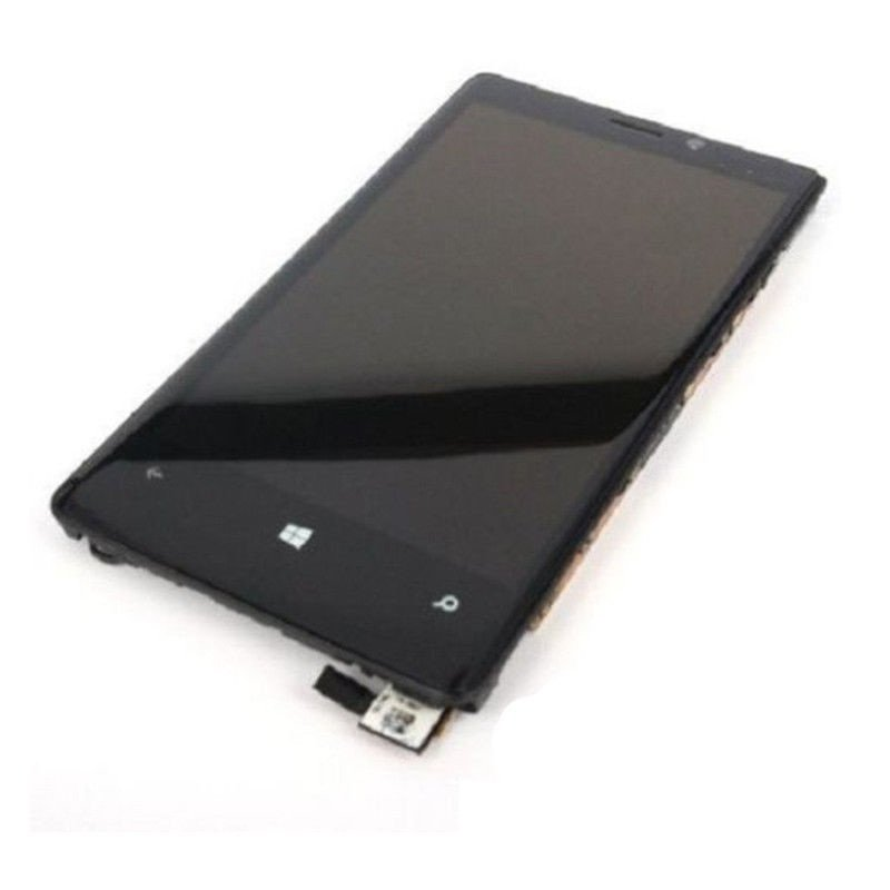 OEM Nokia Lumia 920 LCD Display Touch Digitizer Screen Assembly + Back Frame