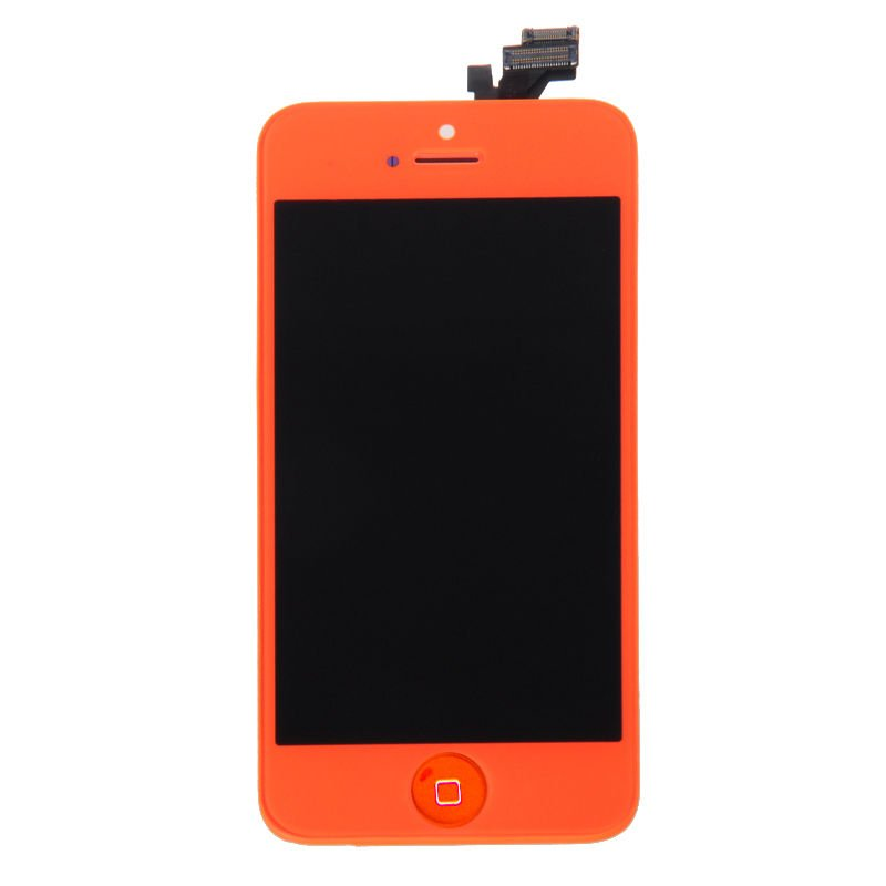 Orange Front Housing LCD Display Touch Digitizer Screen Assembly for Iphone 5