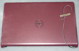 NEW Dell Inspiron 1764 Pink LCD Back Cover Lid w Hinges Assembly HDVJ9 0HDVJ9
