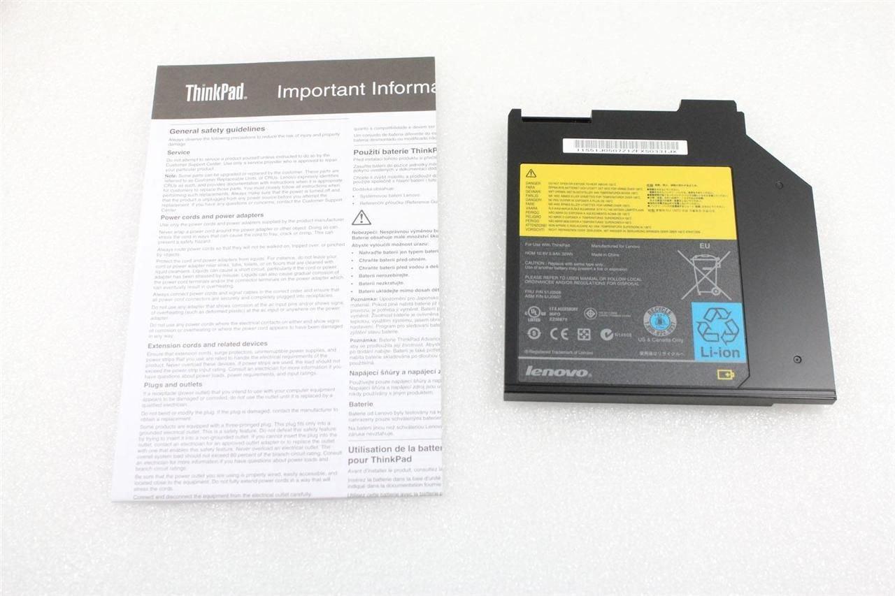 New Genuine Lenovo ThinkPad T400s T410si T420s T500 W500 Ultrabay Battery 51J0508