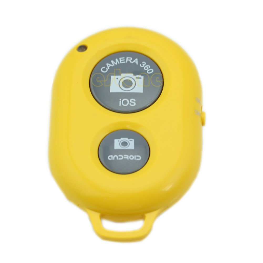 Yellow Wireless Camera Bluetooth Remote Shutter For IOS Android iPhone HTC Samsung Sony New
