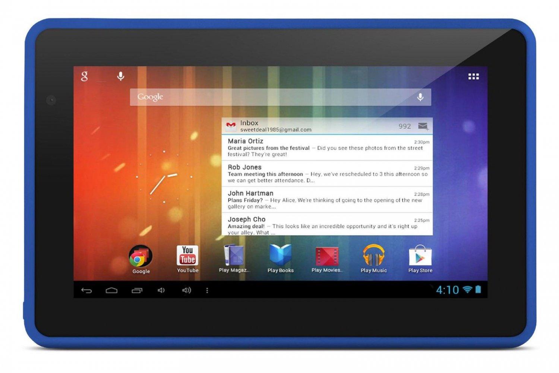 Blue New Black Ematic Genesis Prime 4GB HD Multimedia Tablet