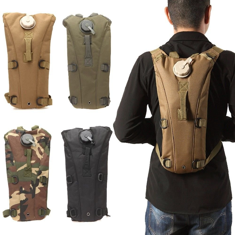 Multicolor 3L Hydration Packs Tactical Water Bag Assault Backpack Hiking Pouch