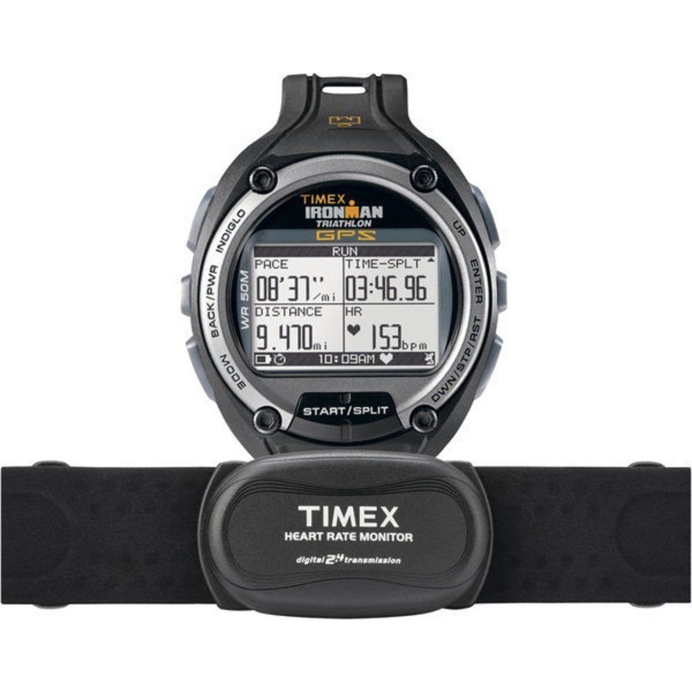 New Timex Ironman Global Trainer GPS Watch/ Digital 2.4 Heart Rate Monitor T5K444