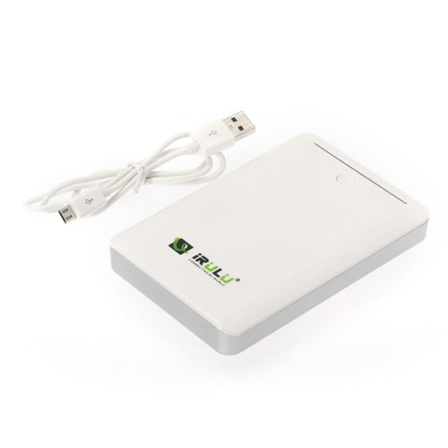 iRuLu Universal USB Power Bank 14000mAh External Battery Charger Pack White
