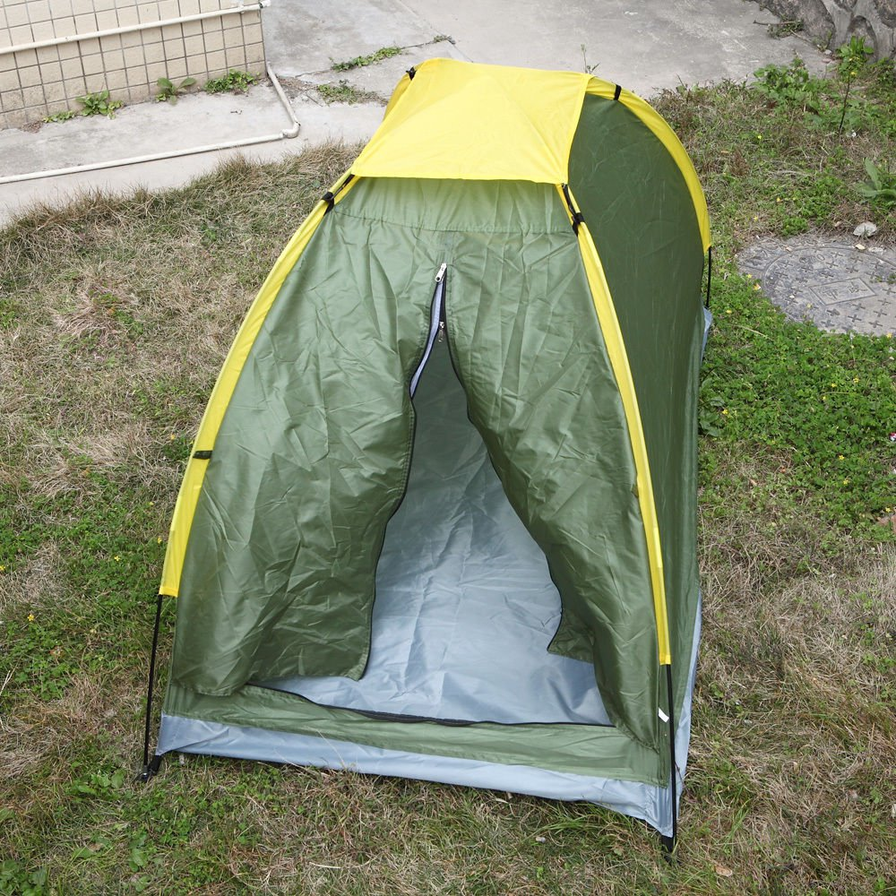Outdoor Single Hiking Travel Sleeping Camping Tent Sealed Bottom Waterproof Dome