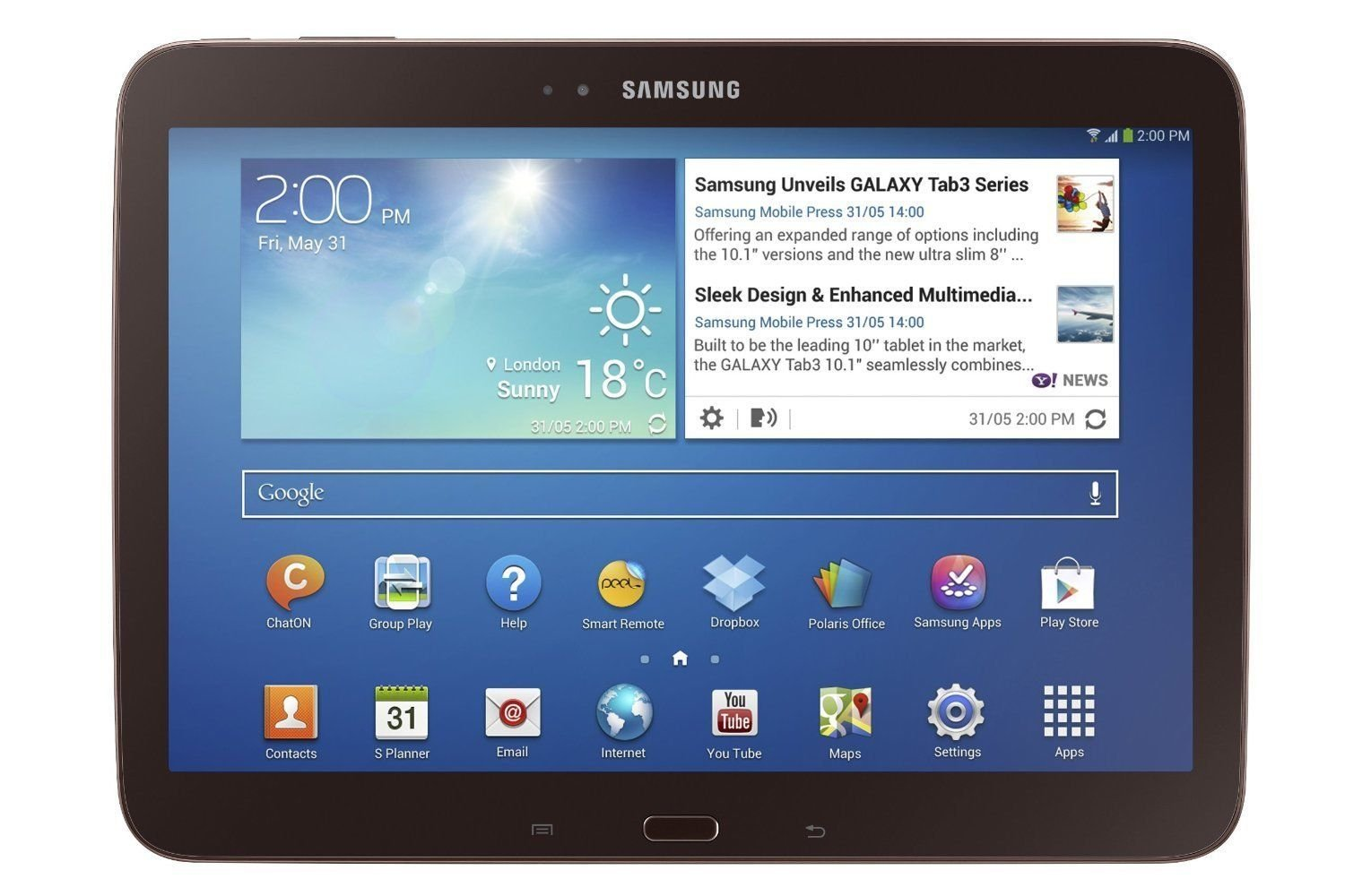 """Samsung Galaxy Tab 3 10.1"""" GT-P5210 16GB Wi-Fi Tablet Android 4.2 - Gold/Brown"""