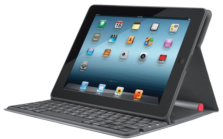 Logitech Solar Bluetooth Keyboard Folio For Apple iPad 2 3 & 4 - 920-003907