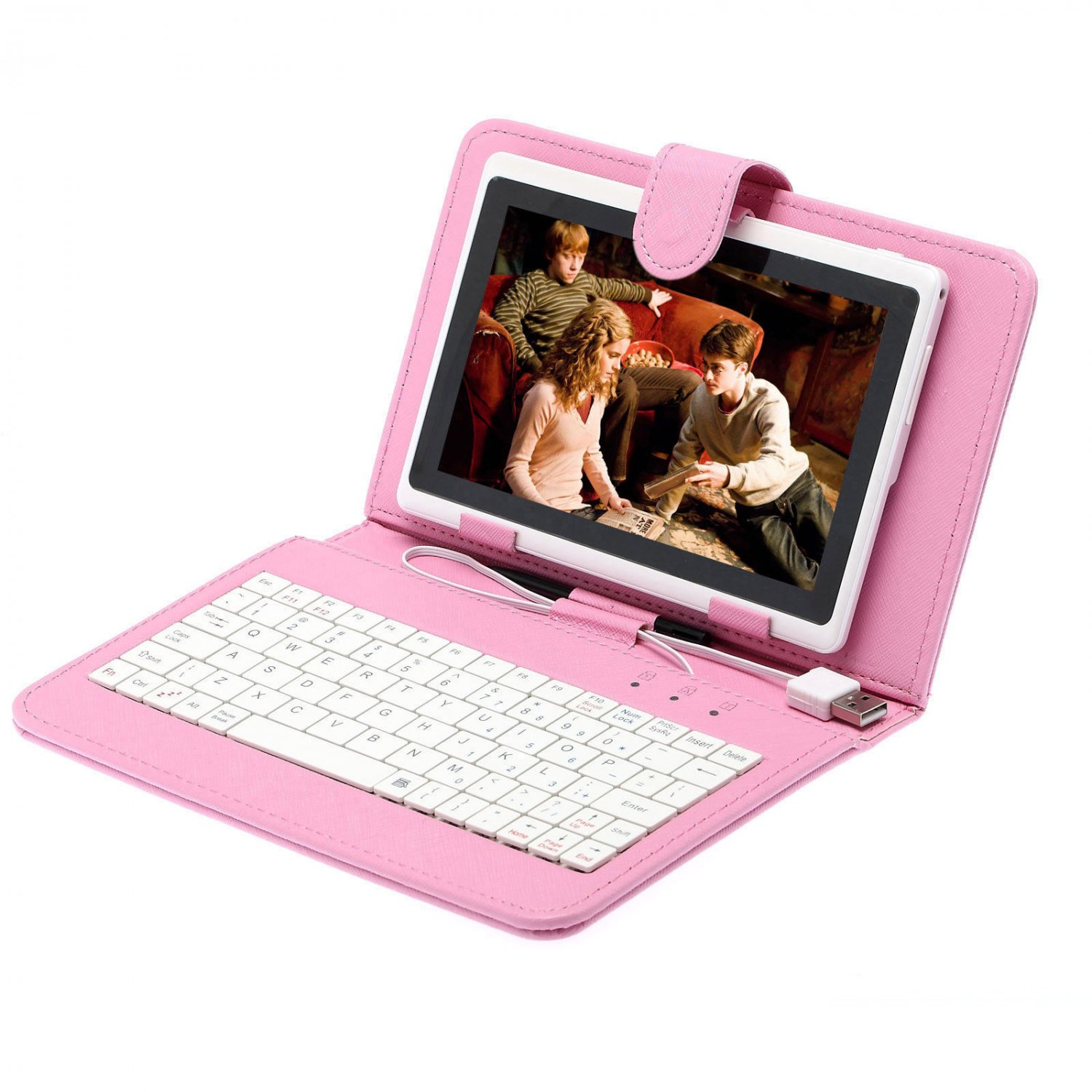 "iRulu 7"" Android 4.0 Tablet PC Cortex A8 1.2GHz Dual Cam Bundle Pink Keyboard"