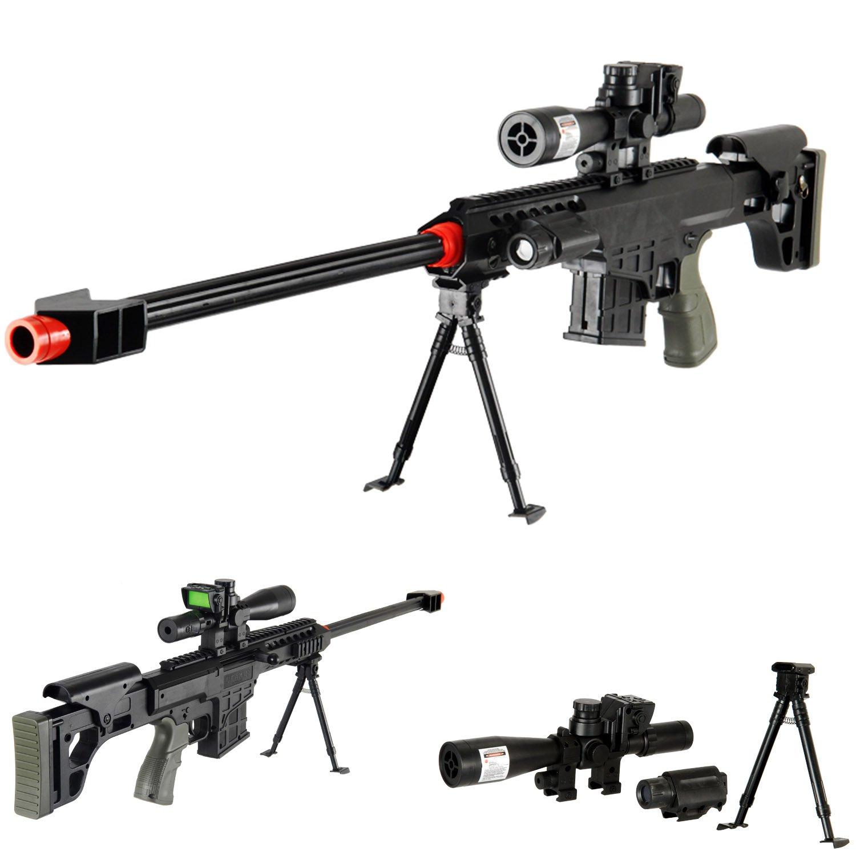 Spring Sniper Rifle FPS-315 Bipod Dummy Scope Silencer Airsoft Gun