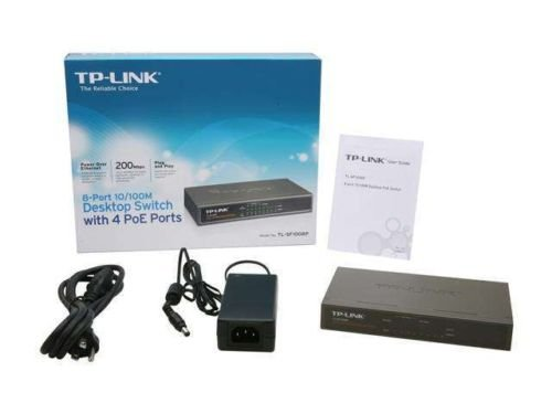 TP-LINK TL-SF1008P 10/100Mbps 8-Port PoE Switch, 4 PoE Ports, Metal case