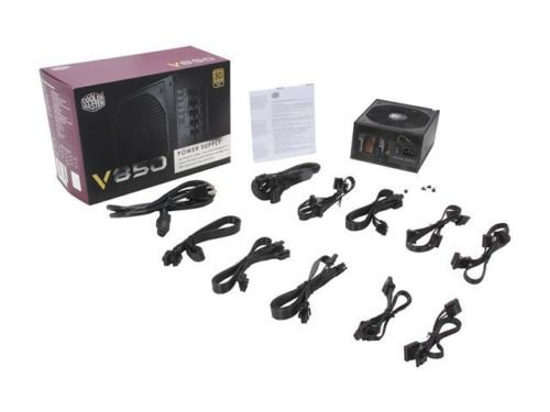 Cooler Master V850 - 850W Power Supply with Fully Modular Cables and 80 PLUS Gol