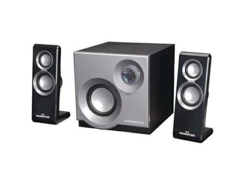 Manhattan 3050 2.1 Speaker System with 2 Satellites and 1 Subwoofer