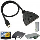 Original NEW 3 Port HDMI 1.3 1080P Switcher Switch Splitter for HDTV DVD Xbox 360 USA