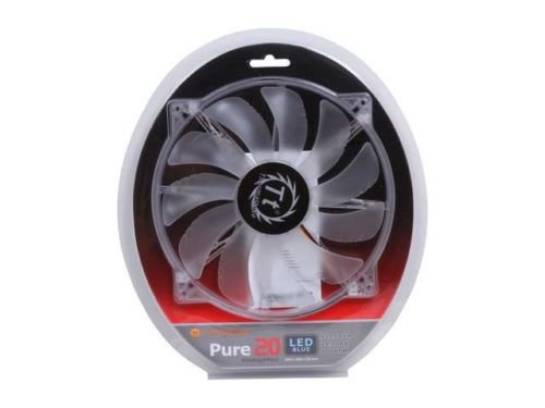Thermaltake CL-F016-PL20BU-A 200mm Blue LED Pure Series Quiet High Airflow Case