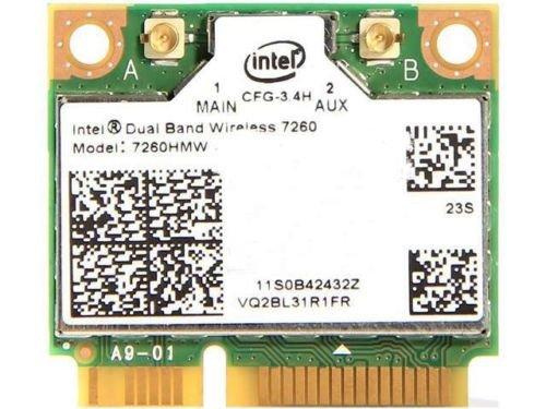 Intel 7260HMW NB IEEE 802.11 Dual Band N600 Mini PCI Express Wi-Fi Adapter, 2.4G