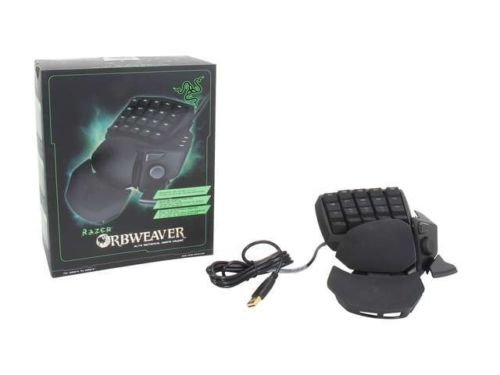 Razer Black 8-way Directional RZ0700740100R3U1 Orbweaver Gaming Keypad