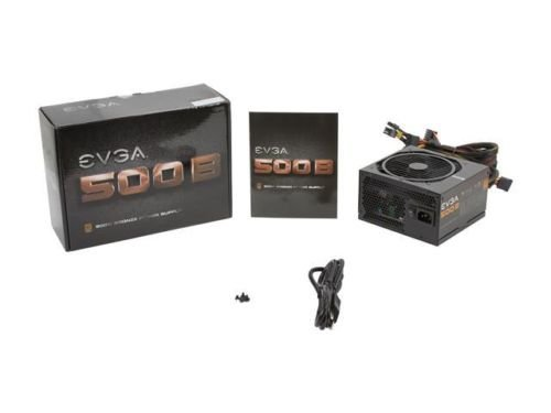 New EVGA 500 B 80 PLUS BRONZE Certified 500W Active PFC ATX12V v2.31/EPS 12V