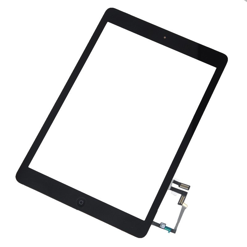 Black Front Touch Screen Glass Digitizer + Home Button for iPad Air A1474 A1475