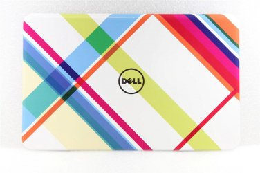 """New Dell Inspiron 15R N5110 15.6"""" Plaid Switchable LCD Back Cover 4929F 2NDH2"""