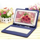"IRULU 10.1"" New Android 4.2 Tablet Dual Core Cam 16GB HDMI Blue w/ Keyboard Case"
