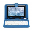 """IRULU eXpro X1 Black 7"""" Tablet PC Android 4.2 Dual Core 8GB w/ Blue Keyboard"""