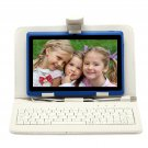 """IRULU eXpro X1 Blue 7"""" Tablet PC Android 4.2 Dual Core 8GB w/ White Keyboard"""
