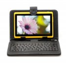 "IRULU eXpro X1 Yellow 7"" Tablet PC Android 4.2 Dual Core 8GB w/ Black Keyboard"